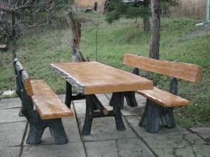 Tavoli Da Giardino In Cemento.Tavoli Panchine E Sgabelli In Cemento Finto Legno